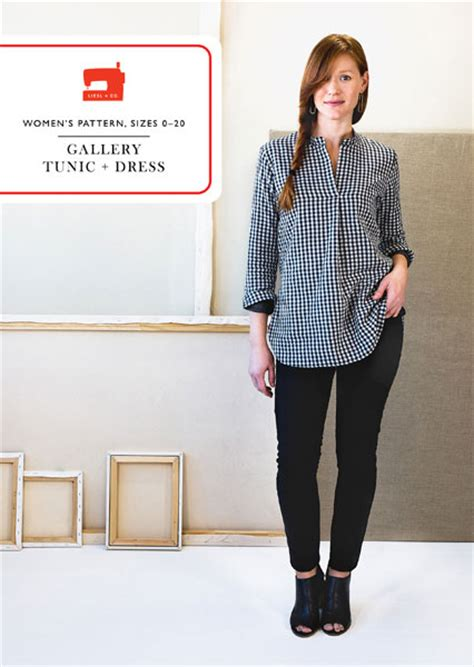 Galery Tunik gallery tunic dress sewing pattern shop oliver s