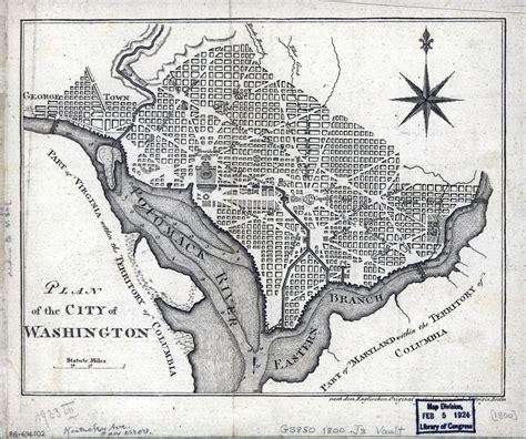 washington dc in usa map large detailed plan of the city of washington 1800