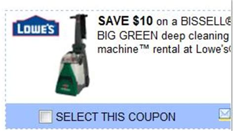 rug cleaner rental lowes the nikolai nuthouse 10 bissell big green cleaning rental at lowe s coupon