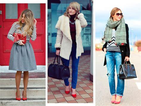 imagenes de outfits invierno 2015 tacones rojos con outfits de invierno actitudfem
