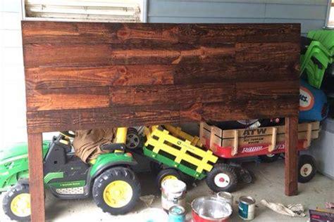 wood pallet headboard diy wooden headboard out of pallets