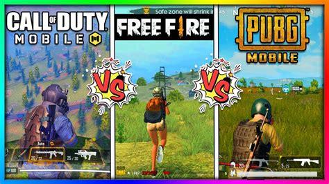 call  duty mobile   fire  pubg mobile comparison