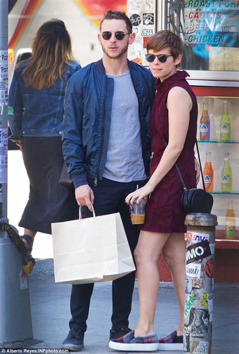 Kate Mara and Jamie Bell pack on the PDA while out in New York   Daily Mail Online
