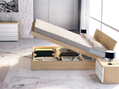 letto con letto matrimoniale in legno con contenitore idfdesign