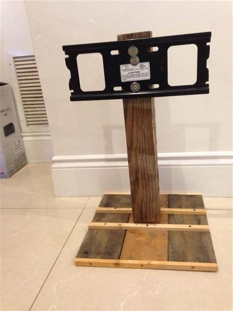 diy simple pallet tv stand pallet furniture plans