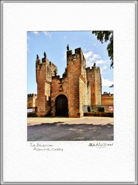 Coklat Card By Castle Shops alnwick castle the barbican a real photo card