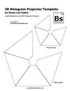 Hologram Template by 3d Hologram Projector For Your Phone Or Tablet Bealsscience