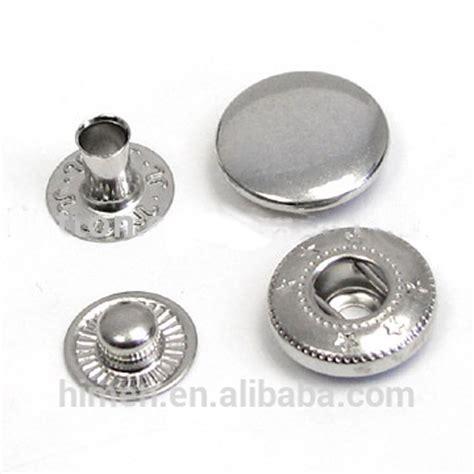 Kancing Jepret 4 part messing metalen knop lente drukknoop drukknopen