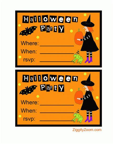 printable halloween invitations to color printable halloween party invitations ziggity zoom
