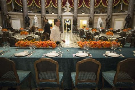 Inaugural Luncheon Head Table | are the presidential inauguration flowers worth the money
