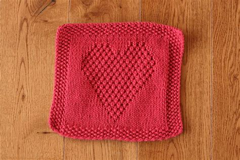 heart pattern dishcloth heart washcloth by eileen casey free download on ravelry