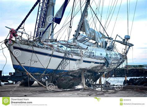 boat crash dream crash yacht stock photo image 46495616