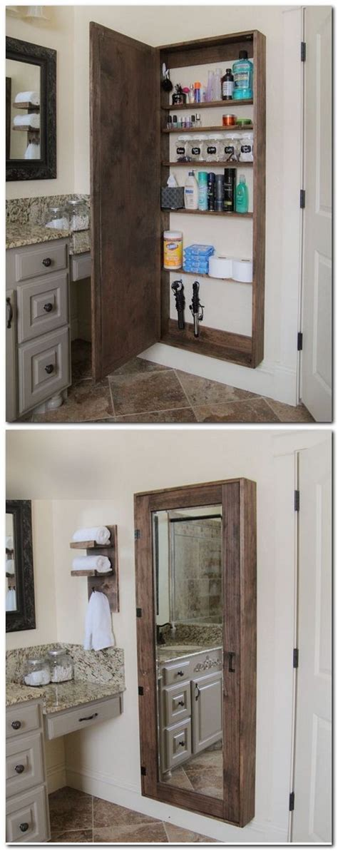 bathroom mirror with hidden storage 15 chic hidden storage ideas 2017
