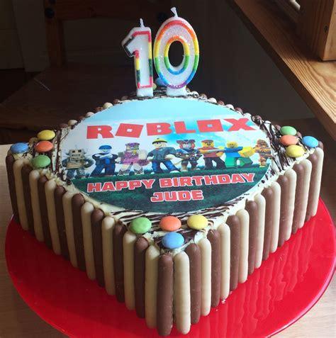roblox birthday cake    year  son birthday boys desserts   roblox birthday