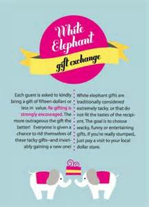 white elephant rules gift ideas pinterest