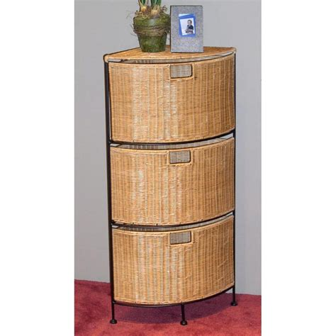 corner wicker storage cabinet iron metal frame
