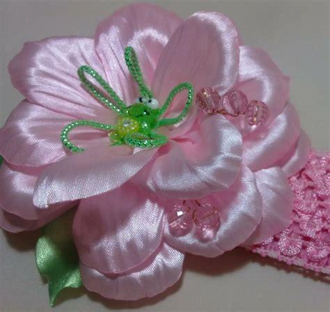 tutorial bunga ros organza цветок канзаши flower kanzashi яркая летняя повязка с