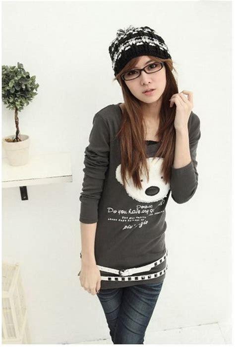Adjy 05 Hello Boy Shirt Grey Set grey teddy shirt sweater japan kawaii sweaters hoodies clothes kawaii shop