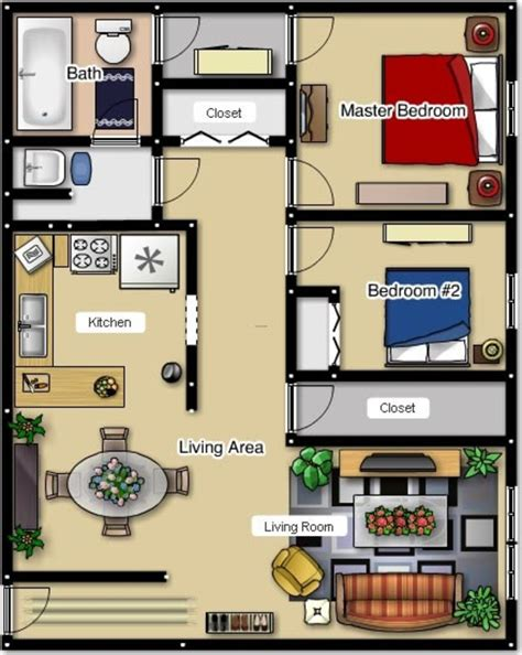 bedroom apartment layouts  bedroom apartment floor