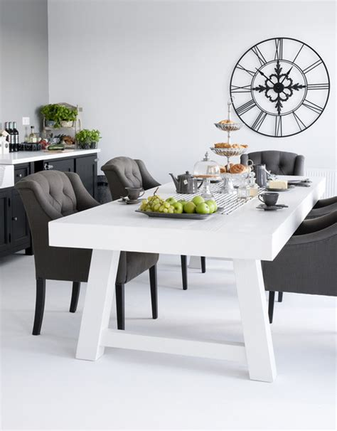 dining table black and white
