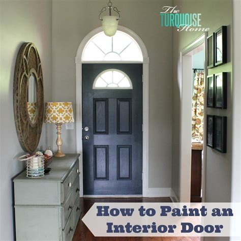 How To Paint Interior Doors How To Paint An Interior Door Hale Navy The Turquoise Home