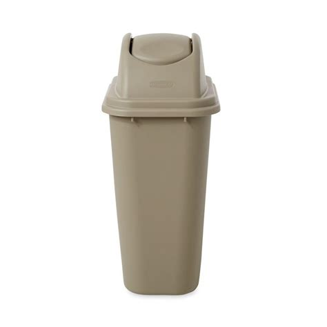 swing trash can rubbermaid commercial products untouchable 10 gal beige