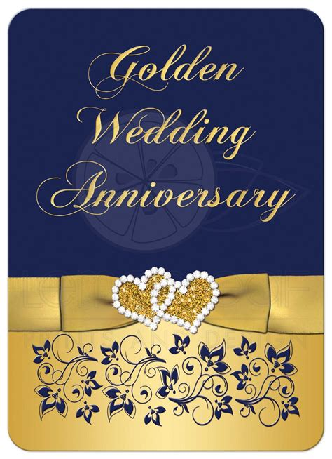 Golden Wedding Invitation Templates by Golden Wedding Anniversary Invitation Golden Wedding