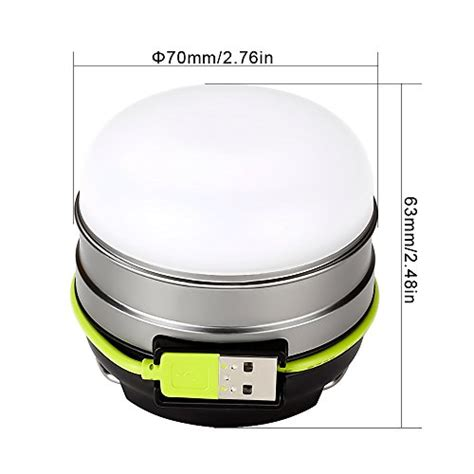 le led cing lantern usb rechargeable 280lm led tent