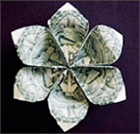 Dollar Origami Flower - origami money flowers