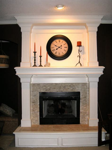 how to build a raised fireplace hearth fireplace surround travertine mosaic home sweet home