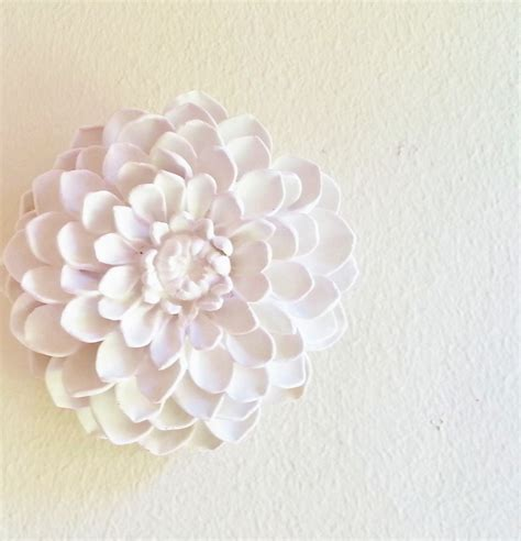 Floral Wall Decor by Dahlia Flower Sculpture Boheme Flowers Modern