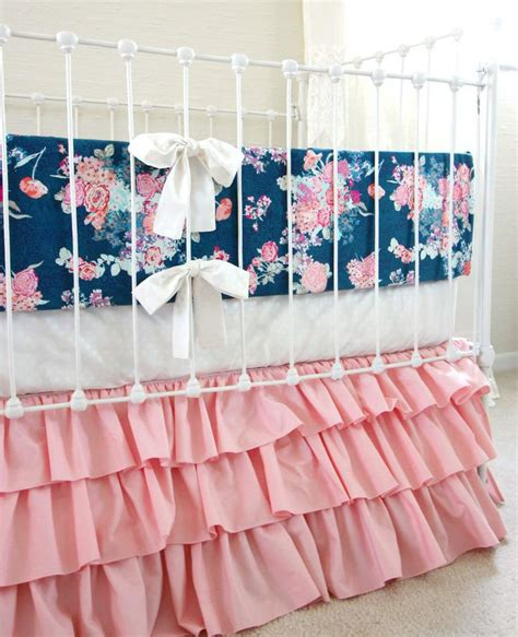 Navy And Pink Crib Bedding 1000 Ideas About Navy Crib Bedding On Pinterest Baby Bedding Baby Bedding And Baby Beds