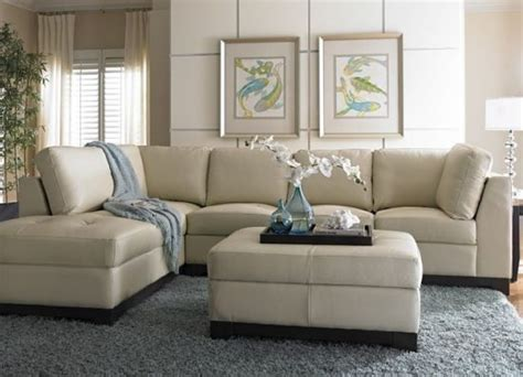 Light Colored Leather Sofa Light Colored Leather Sofas A Bright Vibe In 2018 Trendy