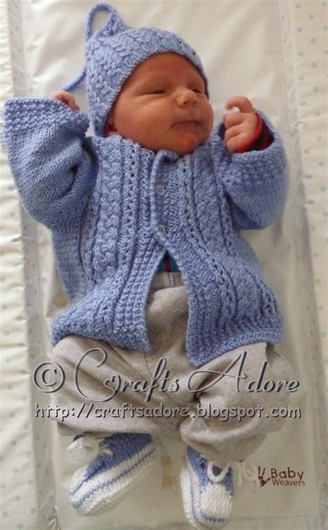 knitted baby boy hat patterns craftsadore quot handsome cables quot knitted baby boy cardigan
