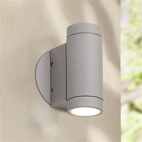 possini outdoor wall light possini matte silver outdoor led up and wall