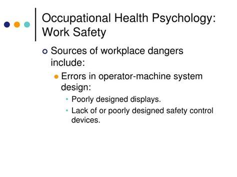 Occupational Health Psychology ppt human factors and occupational health psychology