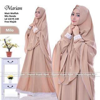 Maryam Kemeja termurah syari wolfis muslim wanita baju murah mariam