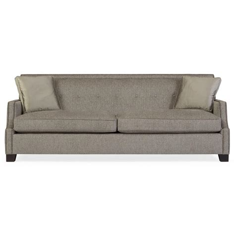 Sofa Modern Classic by Bexley Modern Classic Mocha Wood Taupe Sofa Kathy Kuo Home