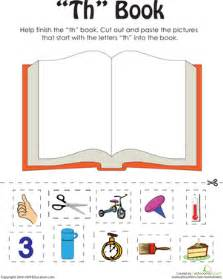 quot th quot words a word family book worksheet education com