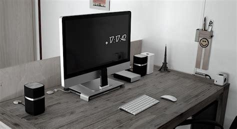 Minimalist Computer Speakers mac setups an electrical engineering student s desk