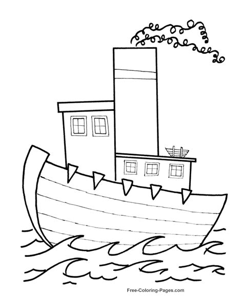 house boat drawing picture boat coloring pages for kids coloring home