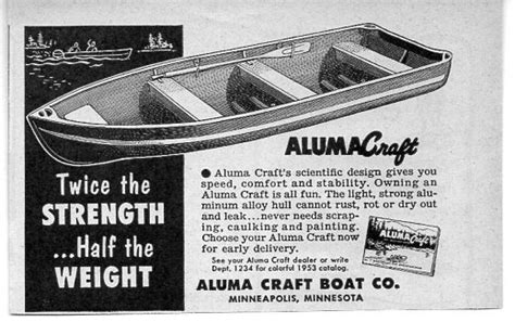 alumacraft boats any good 1953 vintage ad alumacraft boats aluma craft twice the