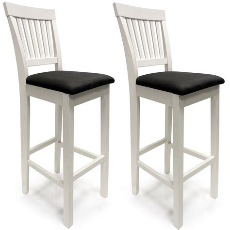 bar stool with back rest wooden bar stool set kitchen breakfast back rest 2x barstool dining chairs 110cm ebay