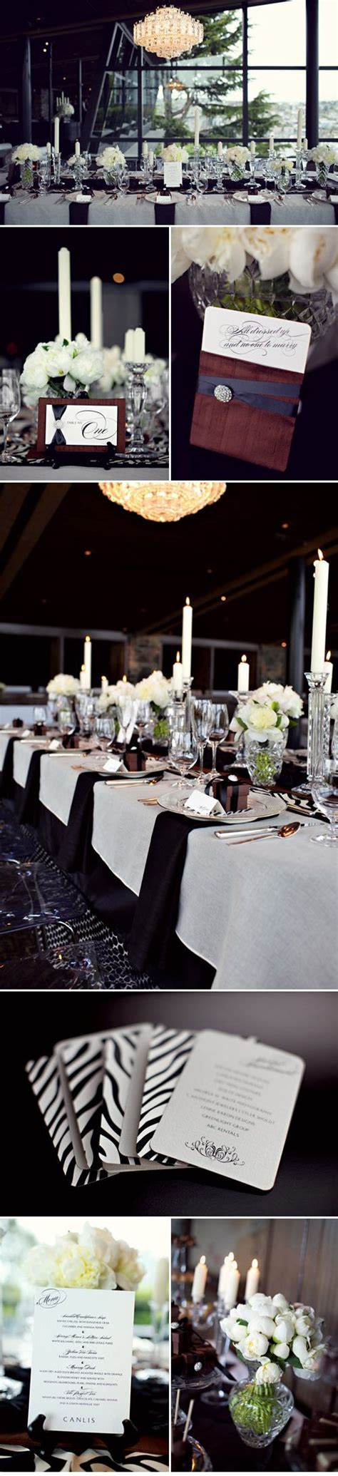 Swanky and Elegant Wedding Style at Canlis   Black and