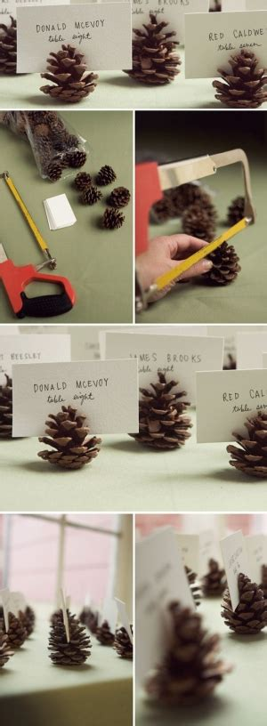 6 pc pine cone place card holder set pine cone place card holders
