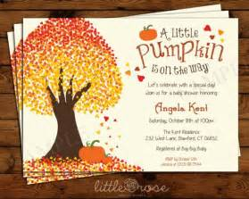 pumpkin baby shower invitation fall baby shower invite fal