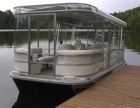 pontoon boat with cabin lexan boat enclosures