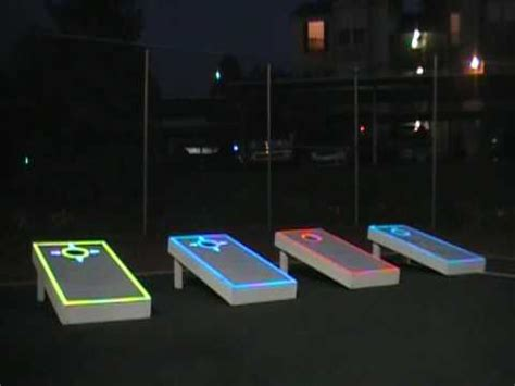 light up corn board hole sets lumipic lighted overlays in action youtube