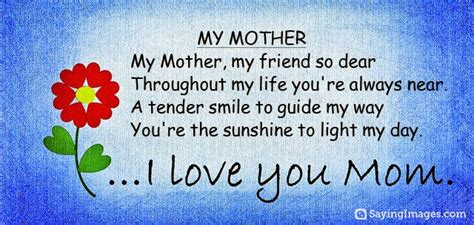 short biography about my mother short poems for mothers day birthday wishes pinterest
