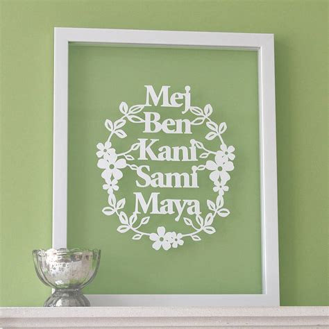personalised family papercut art by ant design gifts